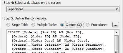 Tableau Performance Series - Custom SQL Connections - Power Tools