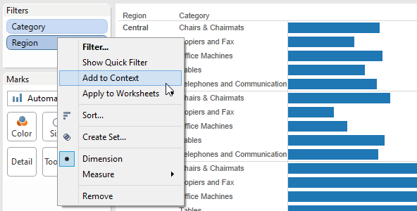 Tableau Performance Series - Context Filters - Power Tools